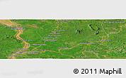 Satellite Panoramic Map of Phumĭ Kăng Mémay
