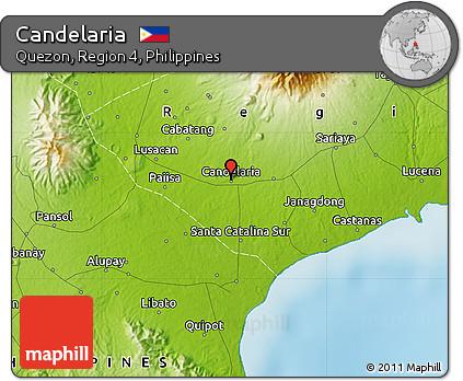 Free Physical Map Of Candelaria - Candelaria map