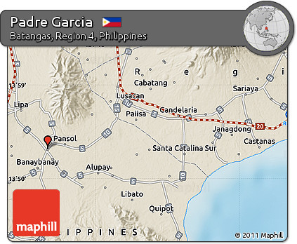 Free Shaded Relief Map of Padre Garcia on
