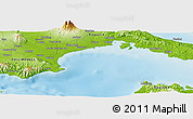 """Physical Panoramic Map of the area around 13°44'54""""N,121°37'30""""E"""