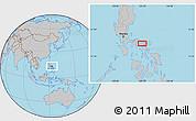 Gray Location Map of Luawan