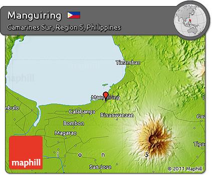 Physical Map of Manguiring