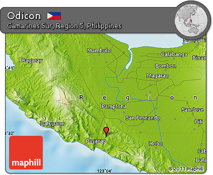 Physical Map of Odicon