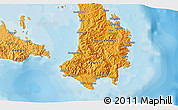 Political 3D Map of Gibgos