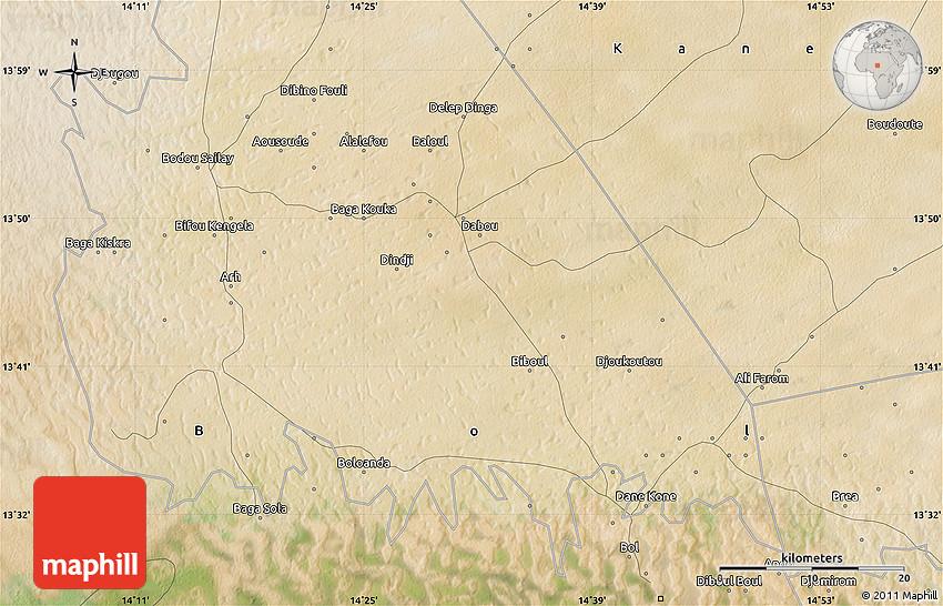 Satellite Map of Baga Sola