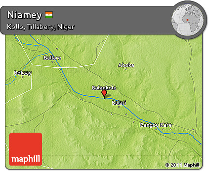 Free Physical Map of Niamey