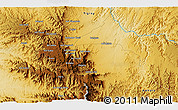 """Physical 3D Map of the area around 13°44'54""""N,37°28'30""""E"""