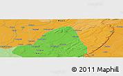 Political Panoramic Map of Djénné