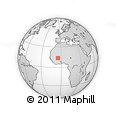"""Outline Map of the Area around 13° 44' 54"""" N, 5° 1' 30"""" W, rectangular outline"""