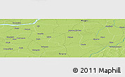 """Physical Panoramic Map of the area around 13°44'54""""N,5°1'30""""W"""