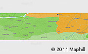 """Political Panoramic Map of the area around 13°44'54""""N,5°1'30""""W"""