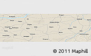 """Shaded Relief Panoramic Map of the area around 13°44'54""""N,5°1'30""""W"""