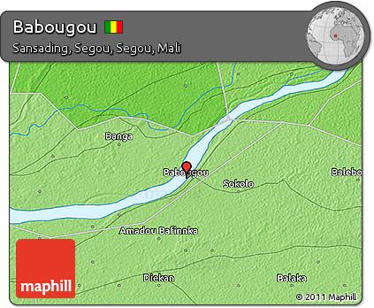 Free Political 3D Map of Babougou
