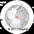 Outline Map of Dioro, rectangular outline