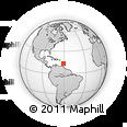 Outline Map of Saint Lucia, rectangular outline