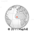 """Outline Map of the Area around 13° 44' 54"""" N, 6° 43' 29"""" W, rectangular outline"""