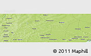 """Physical Panoramic Map of the area around 13°44'54""""N,6°43'29""""W"""