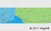 """Political Panoramic Map of the area around 13°44'54""""N,6°43'29""""W"""