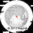 Outline Map of Santaveri, rectangular outline