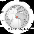 Outline Map of Zanga, rectangular outline