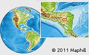 Physical Location Map of La Jumuyca