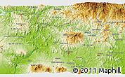 Physical 3D Map of Sensuntepeque
