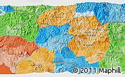 Political 3D Map of Sensuntepeque