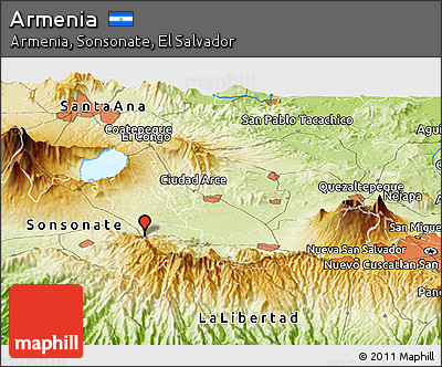 Free Physical Panoramic Map Of Armenia - Armenia physical map
