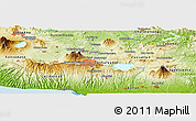 Physical Panoramic Map of Buena Vista
