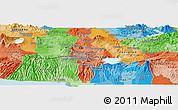 Political Panoramic Map of Delgado