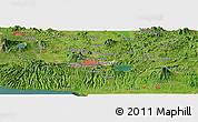 Satellite Panoramic Map of Delgado
