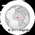 Outline Map of Zinder, rectangular outline
