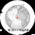 Outline Map of Kolokani, rectangular outline