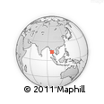 Outline Map of Grandfather Beach, rectangular outline