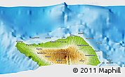 """Physical 3D Map of the area around 13°24'15""""S,172°28'29""""W"""