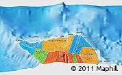 """Political 3D Map of the area around 13°24'15""""S,172°28'29""""W"""