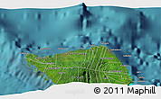 """Satellite 3D Map of the area around 13°24'15""""S,172°28'29""""W"""