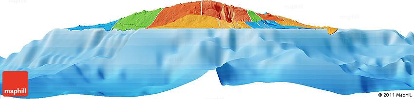 Political Horizon Map of Paia