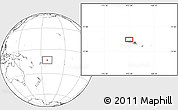 Blank Location Map of Letui