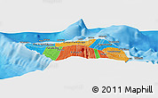 """Political Panoramic Map of the area around 13°24'15""""S,172°28'29""""W"""