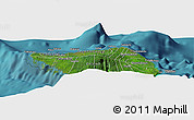 "Satellite Panoramic Map of the area around 13°24'15""S,172°28'29""W"