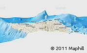 """Shaded Relief Panoramic Map of the area around 13°24'15""""S,172°28'29""""W"""