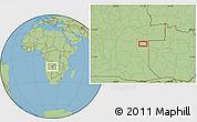 Savanna Style Location Map of Cacondo