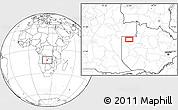 Blank Location Map of Zambezi