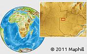 Physical Location Map of Zambezi
