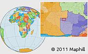 Political Location Map of Zambezi