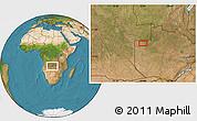 Satellite Location Map of Zambezi