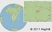 Savanna Style Location Map of Zambezi