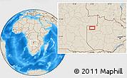 Shaded Relief Location Map of Zambezi