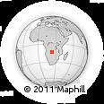 Outline Map of Zambezi, rectangular outline